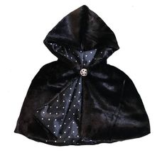 7431f9610c Crushed velvet cape with custom lining and sparkly closure. Washing  Hand  wash ONLY.
