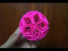 Modular Origami - How to make Modular Flexi Flower Ball Origami - YouTube