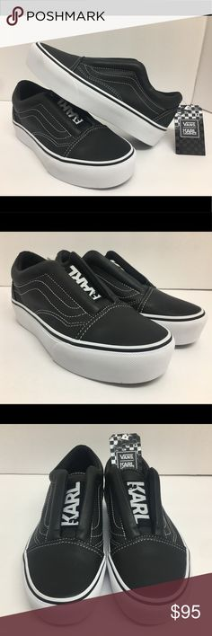 Vans X Karl Lagerfeld Old Skool Shoes YOU ARE LOOKING AT A ORIGINAL PAIR OF Vans Old Skool Black Laceless Platform X KARL LAGERFELD NEW (Women's Size 6.5 Men's Size 5)  CONDITION: BRAND NEW WITHOUT BOX OVERALL CONDITION: 10 / 10   100% AUTHENTIC!  TAKE A LOOK AT ALL MY LISTINGS!  I NEVER SELL FAKES AND NEVER WILL!  100% AUTHENTIC VANS PRODUCT  LOOK AT ALL MY PICS! I HAVE NOTHING TO HIDE! Vans Shoes Athletic Shoes