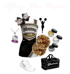 Tiffany Welling's Cheer Uniform by elizabethcooke on Polyvore featuring polyvore fashion style Asics Hello Kitty