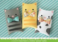 Lawn Fawn Video Pillow Box Kitties by Yainea + A Happy Fall Card by Ivy – Lawn Fawn Best Picture For cosmetic Gift Box For Your Taste You are looking for something, and it is going to tell you exactly what you are looking for, and you didn't find[. Cat Trees Diy Easy, Diy Cat Tree, Kitten Party, Lawn Fawn Blog, Pillow Box, Cat Pillow, Cat Cards, Marianne Design, Origami Tutorial
