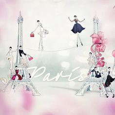 #eiffel #eiffeltower #drawadot #illustration #fashion #dior #lanvin #chloe #balloon #ladydior #pink #fashionillustration #paris #fw13 #parisfashion #dreamy #typo #일러스트레이션 #패션 #디올 #랑방 #끌로에 #art #draw #패션일러스트 #susu