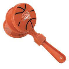 Custom Basketball Clapper. NM110/JL. As low as $0.99 each. #sports #noisemaker #clapper #basketball #marchmadness #partyfavors