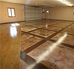 Several Instructions of Concrete Floor Paint Colors to Decide Good Colors for Your Floor: Concrete Floor Paint Colors Ideas ~ Banffkiosk Furniture Inspiration Concrete Floor Paint Colors, Painted Concrete Floors, Stained Concrete, Concrete Staining, Patio Flooring, Flooring Ideas, Garage Flooring, Flooring Options, Concrete Cost
