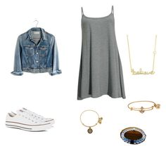 """Untitled #8"" by ciara00brown ❤ liked on Polyvore featuring Converse, Alex and Ani, Sydney Evan and Madewell"