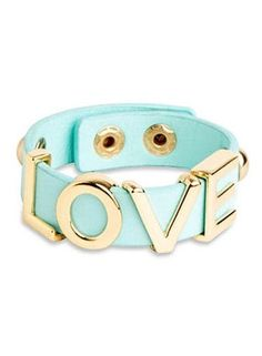 Leather Mint Love Bracelet ♥
