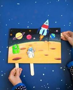 Captivating Outer Space Crafts for Kids that Are Truly Engaging Outer Space Crafts, Space Crafts For Kids, Diy For Kids, Space Party, Space Theme, Space Activities, Preschool Activities, Space Projects, Art Projects