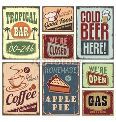 Tropical bar  good food  cold beer  coffee apple pie we're open  gas  eat