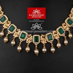 Line of Mayurikas With Onyx Stones Antique Jewellery Designs, Gold Jewellery Design, Gold Wedding Jewelry, Gold Jewelry, Gold Necklace, Short Necklace, Simple Necklace, Gold Bangles, Ruby Necklace Designs