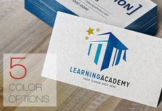 Learning Academy Logo Template by salmon.black on Creative Market