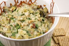 Use gf bacon and serve with gf crackers or chips!   Pip & Ebby - Pip & Ebby - Chicken bacon artichoke dip