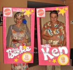 Malibu Barbie and Ken Couple Costume... This website is the Pinterest of costumes