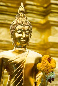 Buddha statue. Wat Phrathat Doi Suthep. Chiang Mai, Thailand.