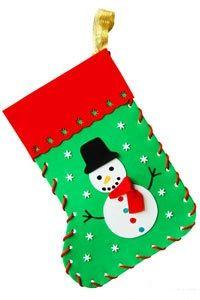 como hacer botas navideñas en foami con los niños