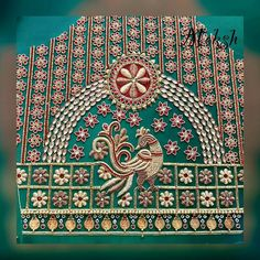 Peacock Wedding Saree Blouse Designs, Blouse Designs Silk, Dress Neck Designs, Sleeve Designs, Blouse Patterns, Peacock Embroidery Designs, Embroidery Patterns, Hand Embroidery, South Indian Blouse Designs