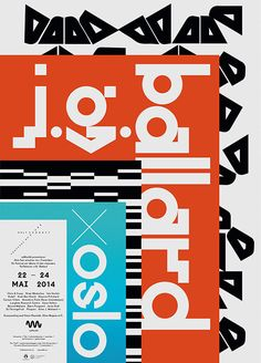 Only Connect Festival of Sound: J.G. Ballard x Oslo by Non-Format, via Behance