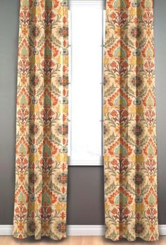 Two 50 wide designer curtain panels drapes by kirtamdesigns