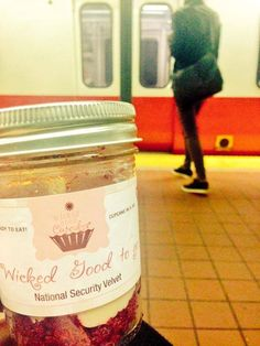 Take me with you! Love, your cupcake jar.