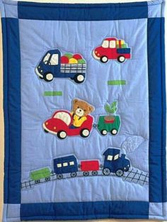 en patchwork et couette pour garçons - - Vivienne LeBeau Quilt Baby, Baby Patchwork Quilt, Baby Quilt Patterns, Baby Sheets, Baby Pillows, Baby Sewing, Quilt Blocks, Diy And Crafts, Sewing Projects