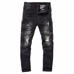 >> Click to Buy << Envmenst 2017 Top Men's New Style Fitness Drawstring Men's Jeans Mid Waist Hip Hop Harem Pants Hole Denim Pants Big Size #Affiliate