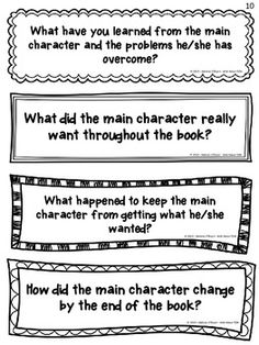 "Variation for independent reading projects: Character Study Reading Exit Slips to organize your ""character study"" mini-lessons and keep your students accountable for reading and responding with purpose Reading Lessons, Reading Strategies, Reading Activities, Reading Skills, Teaching Reading, Reading Comprehension, Teaching Ideas, Guided Reading, Comprehension Strategies"