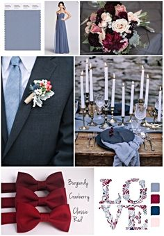 Dusty blue and burgundy wedding colors september / fall color wedding ideas / color schemes wedding summer / wedding in september / wedding fall colors March Wedding Colors, Winter Wedding Colors, October Wedding, Wedding Trends, Trendy Wedding, Dream Wedding, Wedding Ideas, Wedding Details, Winter Wedding Receptions