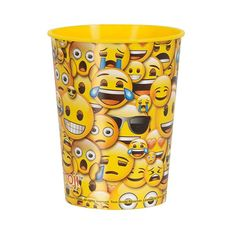 No better way to shows how u feel then to give the birthday girl one of these cute Emoji Party Favor Cup and fill it with treats. This favor cup features emoji faces that go around the cup and express