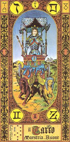 VII. The Chariot - Tavaglione Tarot - The Stairs of Gold Tarot by Giorgio Tavaglione