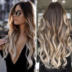 New summer hair color trends ideas Brown Hair Balayage, Brown Blonde Hair, Hair Color Balayage, Blonde Balayage, Hair Highlights, Balyage Long Hair, Long Ombre Hair, Blonde Ends, Balayage Straight