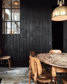 Black stained wood....I think I dig it
