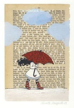 Rainy Day: Illustration by Annette Mangseth - Carambatack Design on Etsy