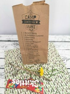 Kids love scavenger hunts. They will be delighted when you pull out these free printable scavenger hunt bags at the next camp out.