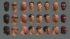 Team Fortress 2 character portrait references.