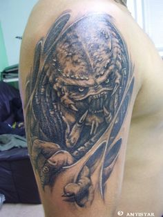 Alien Vs Predator Tattoo