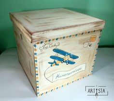 #goodmorning #baby #babybloom #vintage #vintagelovers #painting #art #wood #box #inspiration #airplane #cartepostale #modern #photo #babyboy #baptism #vaptisi #godfather #βαπτιση #mama #mommy #κουτίβάπτισης #νονος #nonos #μαμα #χειροποιητα #artista #greece The Godfather Wallpaper, Painted Boxes, New Baby Products, Decorative Boxes, Baby Boy, Bloom, Painting, Vintage, Inspiration