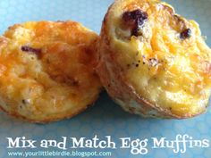 Mix and Match Egg Muffins- super delicious and makes enough for grab and go all week! Healthy Cooking, Healthy Eating, Cooking Recipes, Sausage Breakfast, Breakfast Recipes, Breakfast Ideas, Egg Muffins, Those Recipe, Protein Pack