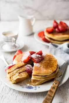 Ricotta Pancakes - So much more moist than ordinary pancakes - and so easy to make!