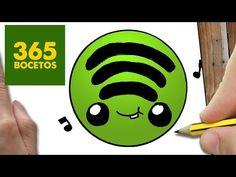 COMO DIBUJAR LOGO SPOTIFY KAWAII PASO A PASO - Dibujos kawaii faciles - How to draw a Logo Spotify - YouTube