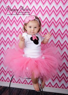 MINNIE MOUSE TUTU and headband...Disney Tutu, Minnie Mouse Birthday on Etsy, $35.95