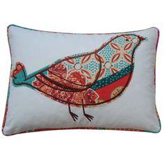 Found it at Wayfair - Zanzibar Bird Cotton Throw Pillow