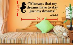 Little Mermaid Quote Wall Decal by LaciesEmporium on Etsy, $16.00