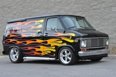 1977 Vandura Hot Wheels Super Van I would love to have this as my next van in the Deep Cycle Garage! Us Cars, Sport Cars, Station Wagon, Classic Trucks, Classic Cars, Old School Vans, Cool Vans, Vans Shop, Custom Vans