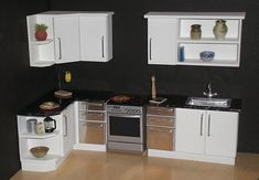 White modern 1/12th scale dollhouse kitchen | From my Mornin… | Flickr                                                                                                                                                                                 More