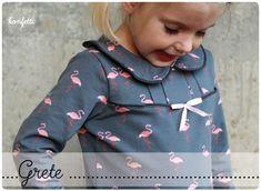 Kindermode - Grete - Bubikragen-Shirt // Gr. 86-164 // ebook  - ein Designerstück von KonfettiPatterns bei DaWanda