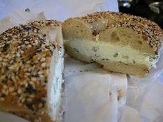 Bagel with scallion cream cheese New Smyrna Beach Florida, Florida Beaches, Bagel, Banana Bread, Trip Advisor, Lunch, Restaurant, Desserts, Food