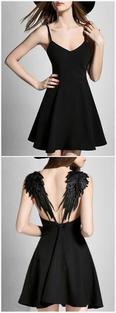 Angle Wings Spaghetti Strap Dress... cheaper on amazon= ) https://www.amazon.com/Deargles-Womens-Dress-Party-Cocktail/dp/B01MV308JZ/ref=pd_sbs_193_3?_encoding=UTF8&pd_rd_i=B071R2JPX4&pd_rd_r=87FBAJEN3M361VRC5WS2&pd_rd_w=HWWC9&pd_rd_wg=BL3By&refRID=87FBAJEN3M361VRC5WS2&th=1