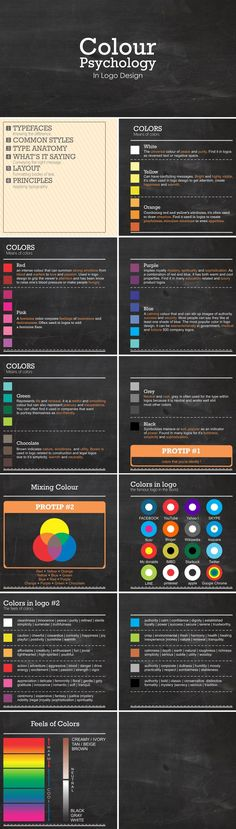 Psychology infographic and charts Color Psychology in logo design. Infographic Description Color Psychology in logo design Visual Design, Graphisches Design, Graphic Design Tips, Graphic Design Inspiration, Layout Design, Design Color, Logo Design Tips, Design Ideas, Funny Design