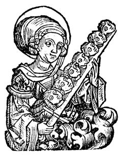 St. Felicitas and her seven sons, Nuremberg Chronicle, 1493