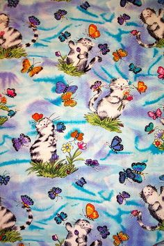 CATS & BUTTERFLIES-- PADDED COVER FOR 18X49 IRONING BOARD #CUSTOMMADEIRONINGBOARDCOVER Ironing Board Covers, Butterflies, Kids Rugs, Cats, Home Decor, Gatos, Decoration Home, Kid Friendly Rugs, Room Decor