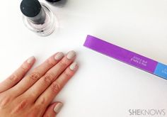Salvage chipped nail polish in five minutes with this nail design tutorial